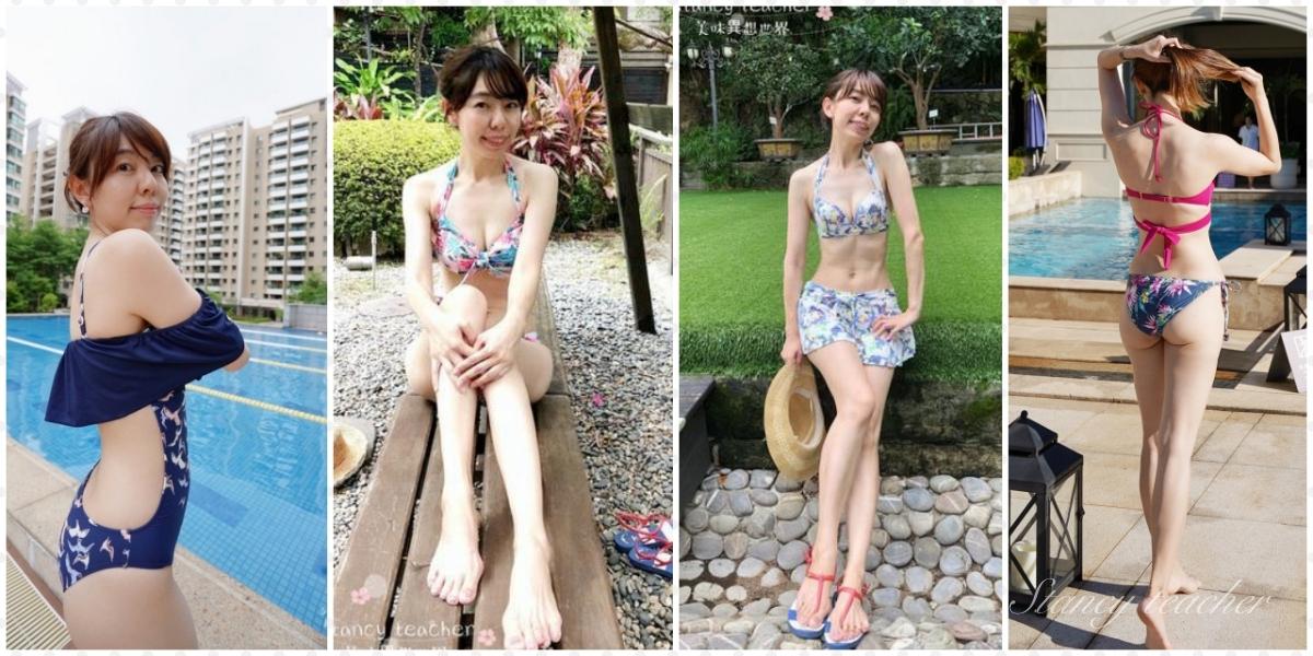 漾著日本華歌爾泳裝|Ai泳裝ChicBird露肩連身泳裝|交叉混搭變化比基尼|讓你腰塑奶澎的機能泳衣