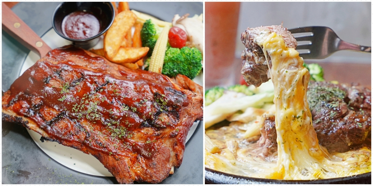 A. K.12美式小館|西門美式餐廳|美式炭烤豬肋排輕輕一扒骨肉分離(菜單、價格)